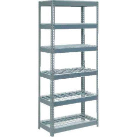 """Extra Heavy Duty Shelving 36""""W x 18""""D x 96""""H With 6 Shelves, Wire Deck"""