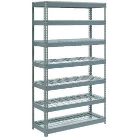 """Extra Heavy Duty Shelving 48""""W x 12""""D x 96""""H With 7 Shelves, Wire Deck"""