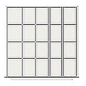 Lyon Modular Drawer Unit Divider Kit NF240K45X  - 20 Compartment- Pkg Qty 1