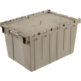 Plastic Storage Container - Attached Lid DC2420-12 23-3/4 x 19-1/4 x 12-1/2 Gray