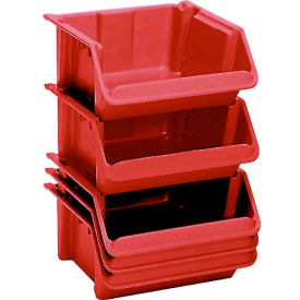 "LEWISBins Fiberglass Hopper Bin SH2416-8 Stack And Nest 24""L x 16-1/2""W x 8""H Red - Pkg Qty 5"