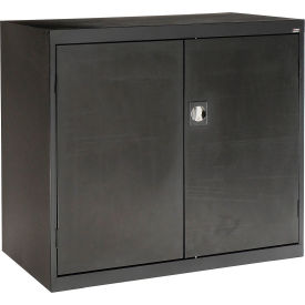 Sandusky Elite Series Counter Height Storage Cabinet EA2R462442 - 46x24x42, Black- Pkg Qty 1
