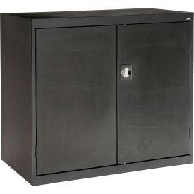 Sandusky Elite Series Counter Height Storage Cabinet EA2R462442 - 46x24x42, Black