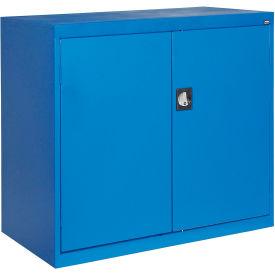 Sandusky Elite Series Counter Height Storage Cabinet EA2R462442 - 46x24x42, Blue- Pkg Qty 1