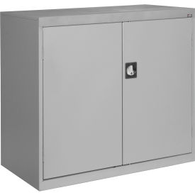 Sandusky Elite Series Counter Height Storage Cabinet EA2R462442 - 46x24x42, Gray- Pkg Qty 1