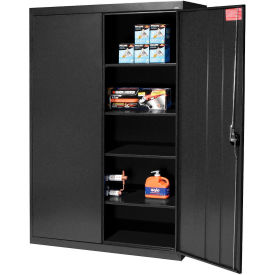 Sandusky Elite Series Storage Cabinet EA4R462472 - 46x24x72, Black- Pkg Qty 1