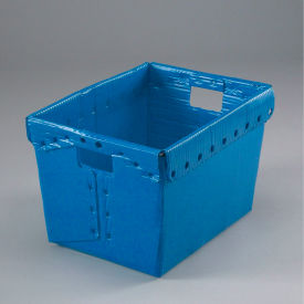 Corrugated Plastic Totes - Postal Nesting- Without Lid 18-1/2x13-1/4x12 Blue - Pkg Qty 10