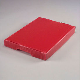 Corrugated Plastic Postal Mail Tote Lid Red - Pkg Qty 10
