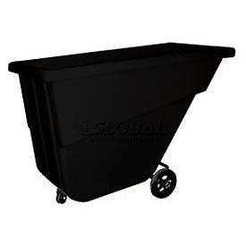Bayhead Products Black Light Duty 5/8 Cubic Yard Tilt Truck 300 Lb. Capacity- Pkg Qty 1