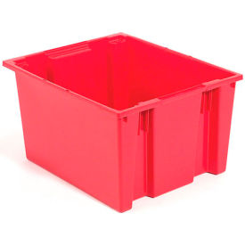 Stacking & Nesting Totes - Shipping SNT225 No Lid 23-1/2 x 19-1/2 x 10, Red - Pkg Qty 3