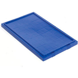 Lid LID181 for Plastic Shipping Containers - Stackable & Nesting SNT180, SNT185, Blue - Pkg Qty 6