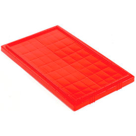 Lid LID181 for Stacking & Nesting Totes - Shipping SNT180, SNT185, Red - Pkg Qty 6