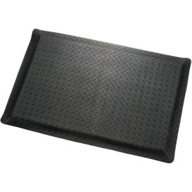 "Diamond Plate Ergonomic Mat 9/16""Thick 48""Wide Black Up To 75ft"