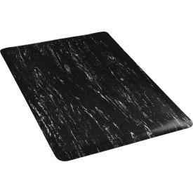 """Marbleized Top Mat, 36""""W x 60""""L, Black"""