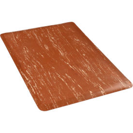 "Anti-Fatigue Tile Top Mat, 36""W Cut Length 1 Ft Up to 60 Ft, Brown"