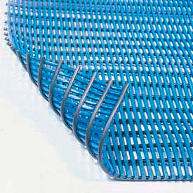 Durable Corp Drainage Mat Grease & Chemical Resistant, 3'W Cut Length 1 Ft Up To 40 Ft, Blue