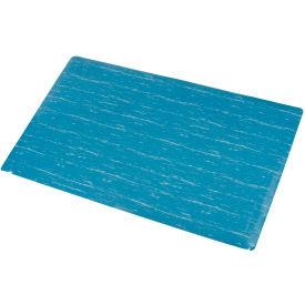 Marbleized Top Matting 3 Ft Wide Blue- Pkg Qty 1