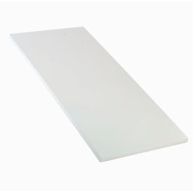 """60"""" W x 30"""" D x 1-1/4"""" Thick, ESD Square Edge Workbench Top, White"""