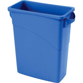 Bac à recyclage Rubbermaid® Slim Jim® 1971257, 16 gallons - bleu
