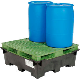Global Industrial™ Spill Containment Sump with Plastic Drum Pallet