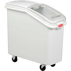 Rubbermaid® 3600-88 2.8 Cu. Ft Plastic Bin Truck with Clear Lid & Scoop