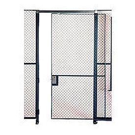 Husky Rack & Wire EZ Wire Mesh Partition Sliding Door - 4'Wx8'H- Pkg Qty 1
