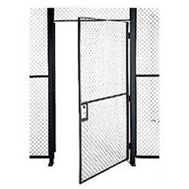 Husky Rack & Wire EZ Wire Mesh Partition Hinged Door - 4'Wx10'H- Pkg Qty 1