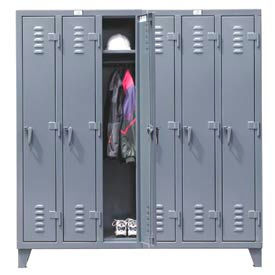 Strong Hold® Heavy Duty Slim-Line Locker 66-18-1TSL - Single Tier 74x18x78 6 Door