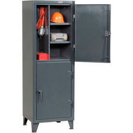 Strong Hold® Personnel Locker  26-24-2TPL - Double Tier 26x24x78 2 Doors Assembled Gray