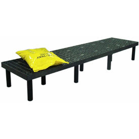"""Plastic Dunnage Rack with Vented Top 96""""W x 24""""D x 12""""H"""