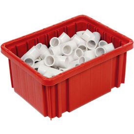 "Plastic Dividable Grid Container - DG91050,10-7/8""L x 8-1/4""W x 5""H, Red - Pkg Qty 20"
