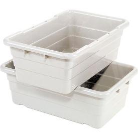 Cross Stack Nest Tote Tub TUB2516-8 -  25-1/8 x 16 x 8-1/2 White - Pkg Qty 6