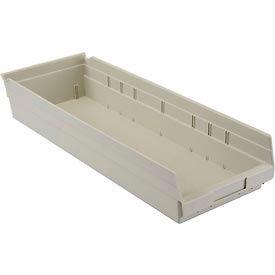 """Nesting Storage Bin - Plastic 8-3/8""""W x 23-5/8"""" D x 4""""H Beige - Pkg Qty 6"""