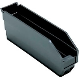 "Quantum Recycled Shelf Bin QSB100BR Nestable, 2-3/4""W x 11-5/8""D x 4""H - Pkg Qty 36"