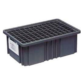 """Quantum Conductive Dividable Grid Container - DG93030CO, 22-1/2""""L x 17-1/2""""W x 3""""H, Black - Pkg Qty 6"""