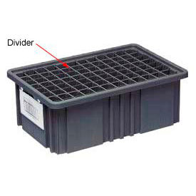 Quantum Conductive Dividable Grid Container Short Divider - DS93060CO, Sold Pack Of 6- Pkg Qty 1