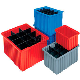 Akro-Mils Akro-Grid Dividable Container 33168 16-1/2 x 10-7/8 x 8 Blue - Pkg Qty 6