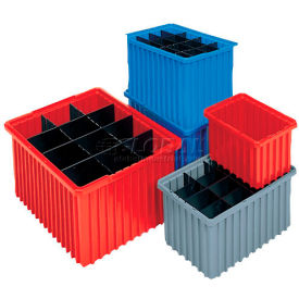 Akro-Mils Akro-Grid Dividable Container 33228 22-3/8 x 17-3/8 x 8 Red - Pkg Qty 3