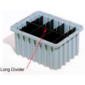 Akro-Mils Long Divider 42226 For Akro-Grids Dividable Grid Containers 33226 Pack Of 6- Pkg Qty 1