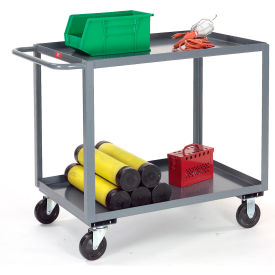 Gray All Welded 2 Shelf Stock Cart 30x18 1200 Lb. Capacity