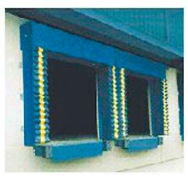 Chalfant Blue Dock Door Seal Model 130 Heavy Duty 40 Ounce 8'W x 9'H with HD Wear Pleats