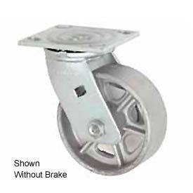 "Faultless Swivel Plate Caster 1406-4RB 4"" Steel Wheel with Brake"