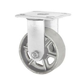 "Faultless Rigid Plate Caster 3406-4 4"" Steel Wheel"