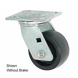 "Faultless Swivel Plate Caster 1465W-4RB 4"" Thermoplastic Wheel with Brake"