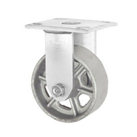 "Faultless Rigid Plate Caster 3406-5 5"" Steel Wheel"