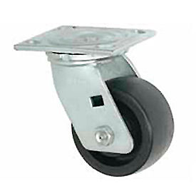 """Faultless Swivel Plate Caster 1465W-5 5"""" Thermoplastic Wheel"""