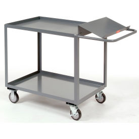 Jamco Two Shelf Order Picking Cart SO248 48x24 Tray Top Shelf