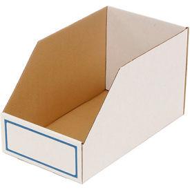 """Foldable Corrugated Shelf Bin 9-3/4""""W x 17-1/2""""D x 10""""H, White - Pkg Qty 27"""