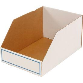 """Foldable Corrugated Shelf Bin 15-3/4""""W x 23-1/2""""D x 12""""H, White - Pkg Qty 27"""