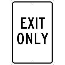 """Aluminum Sign - Exit Only - .063 """" Thick, TM76H"""
